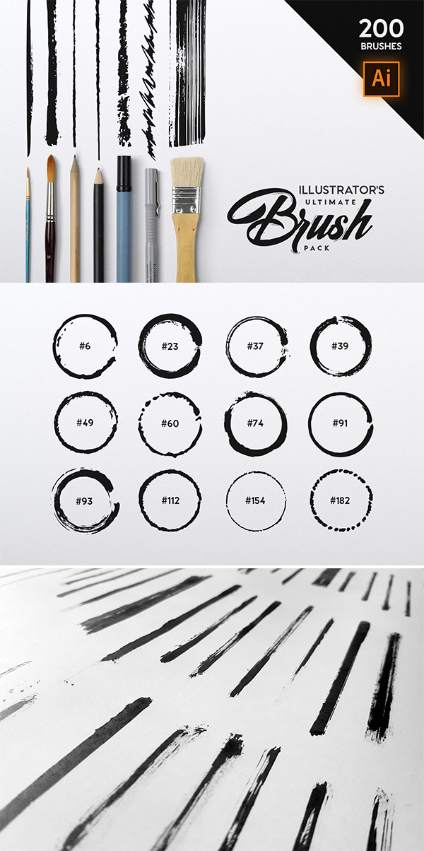 Download Illustrator's Ultimate Brush Pack in 2020 | Illustrators ...