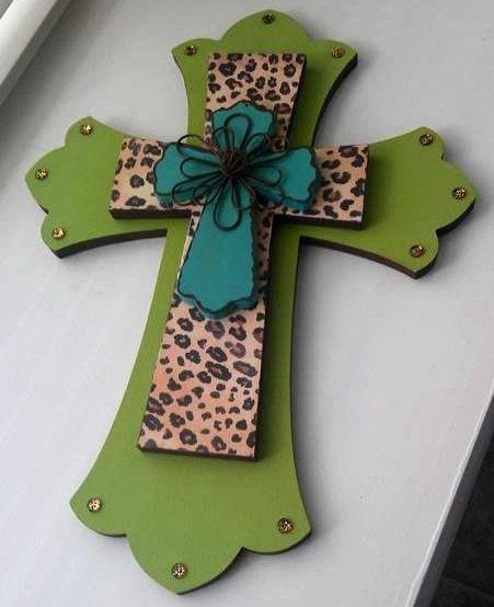 Decorative Wall Cross cheetah print decorative wall crossmadewithlovebylori | hope