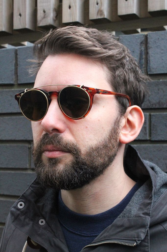 49b36c819 Vintage Carrera Sunjet round glasses from the 80s-90s era, with sunglasses  clip on