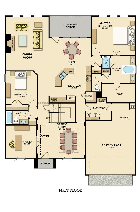 Big Bend Furnished First Floor Family House Plans House Plans House Floor Plans
