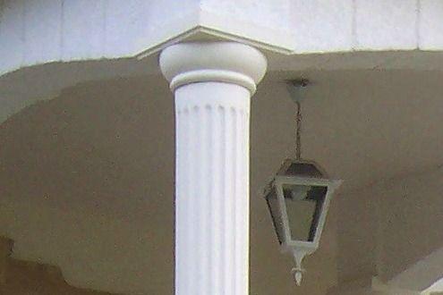 colonne beton decoratif chapiteau moulur dorique pour colonne pleine d corative