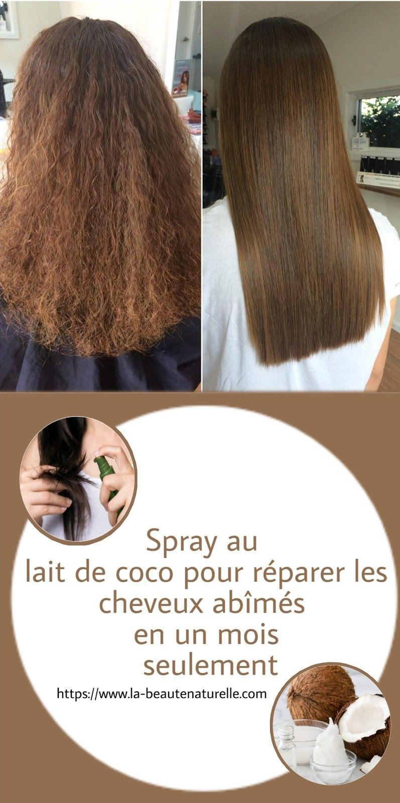 Masque Lait De Coco : masque, Spray, Réparer, Cheveux, Abîmés, Seulement, Styles,, Beauty,, Styles
