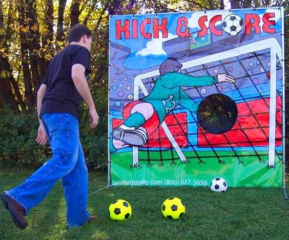Kick Score Soccer Soccer Birthday Parties Soccer Theme Parties Birthday Party Games