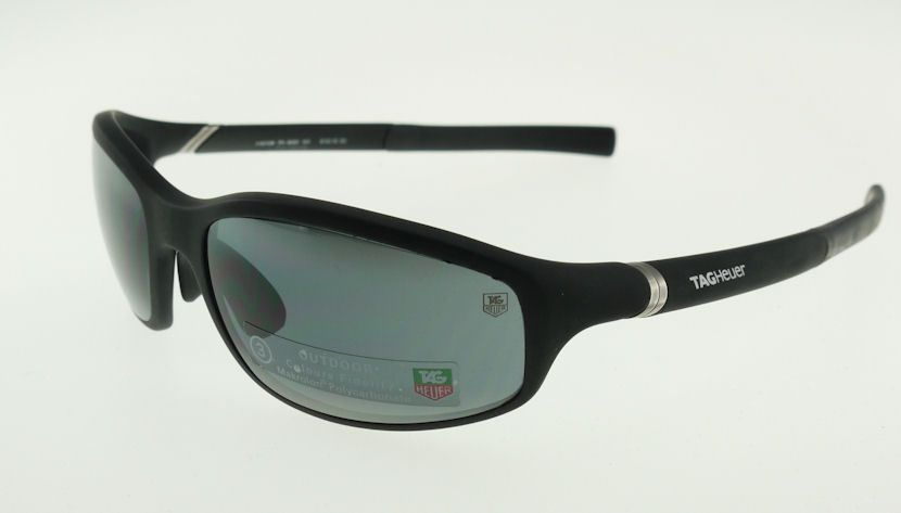 New Tag Heuer Sunglasses Th 6006 Black Authetntic  #TagHeuer #Rectangular