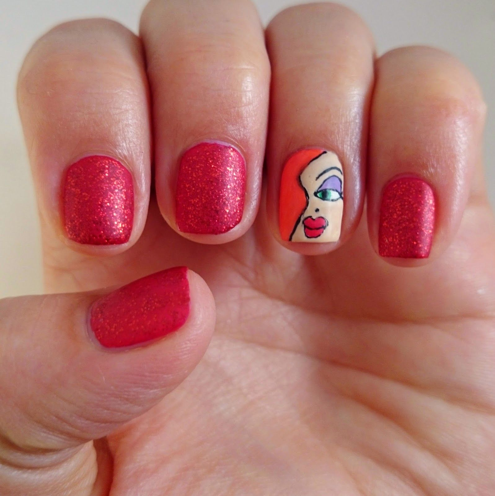 Dahlia Nails: Who Painted Jessica Rabbit?   Nail art   Pinterest ...