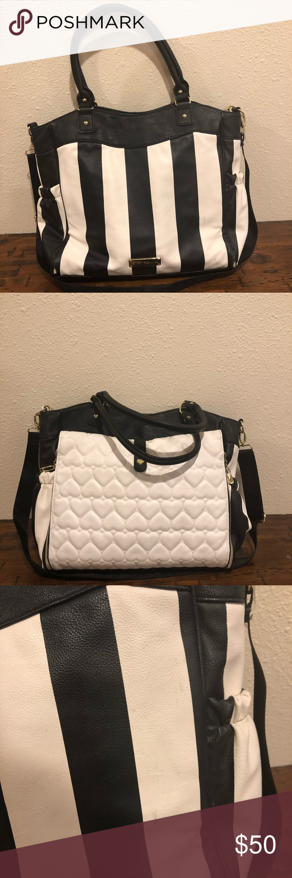 bd06403a34 Betsy Johnson diaper bag Used but good condition Some wear on bottom  corners as well as