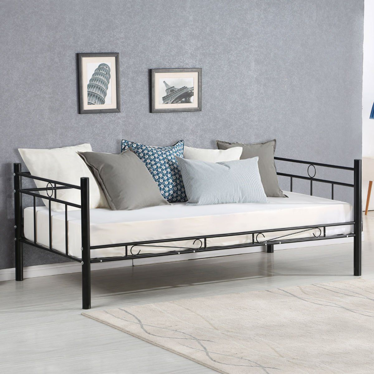 Giantex Twin Size Daybed Frame Metal Sofa Bed Solid