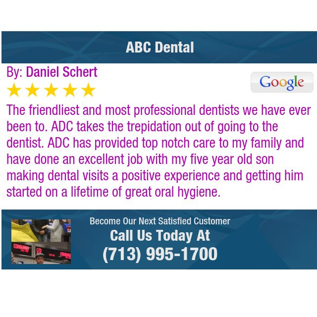 The friendliest and most professional dentists we have ever been to.  ADC takes the...