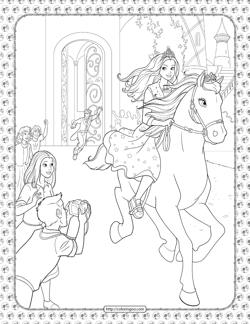 Barbie Princess Adventure Coloring Pages 28 In 2021 Princess Adventure Coloring Pages Barbie Coloring Pages
