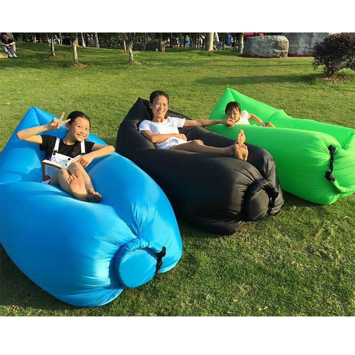 Blue Air Inflatable Beanbag Sofa Chair Living Room Bean Bag