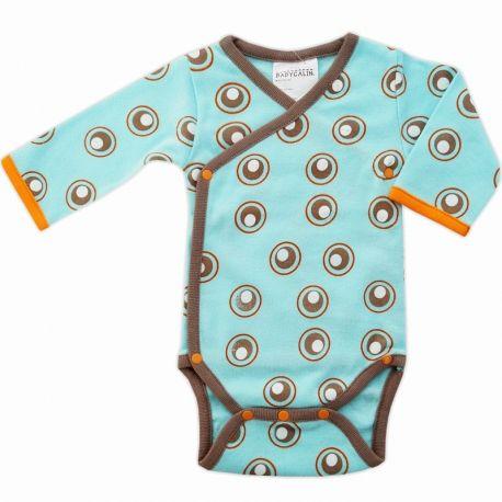 a4839675f5735 Body bébé prématuré 48 cm en coton turquoise et taupe Babycalin ...
