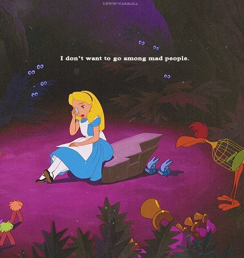 Alice In Wonderland 1951 Crying: I Don't Want To Go Among Mad People