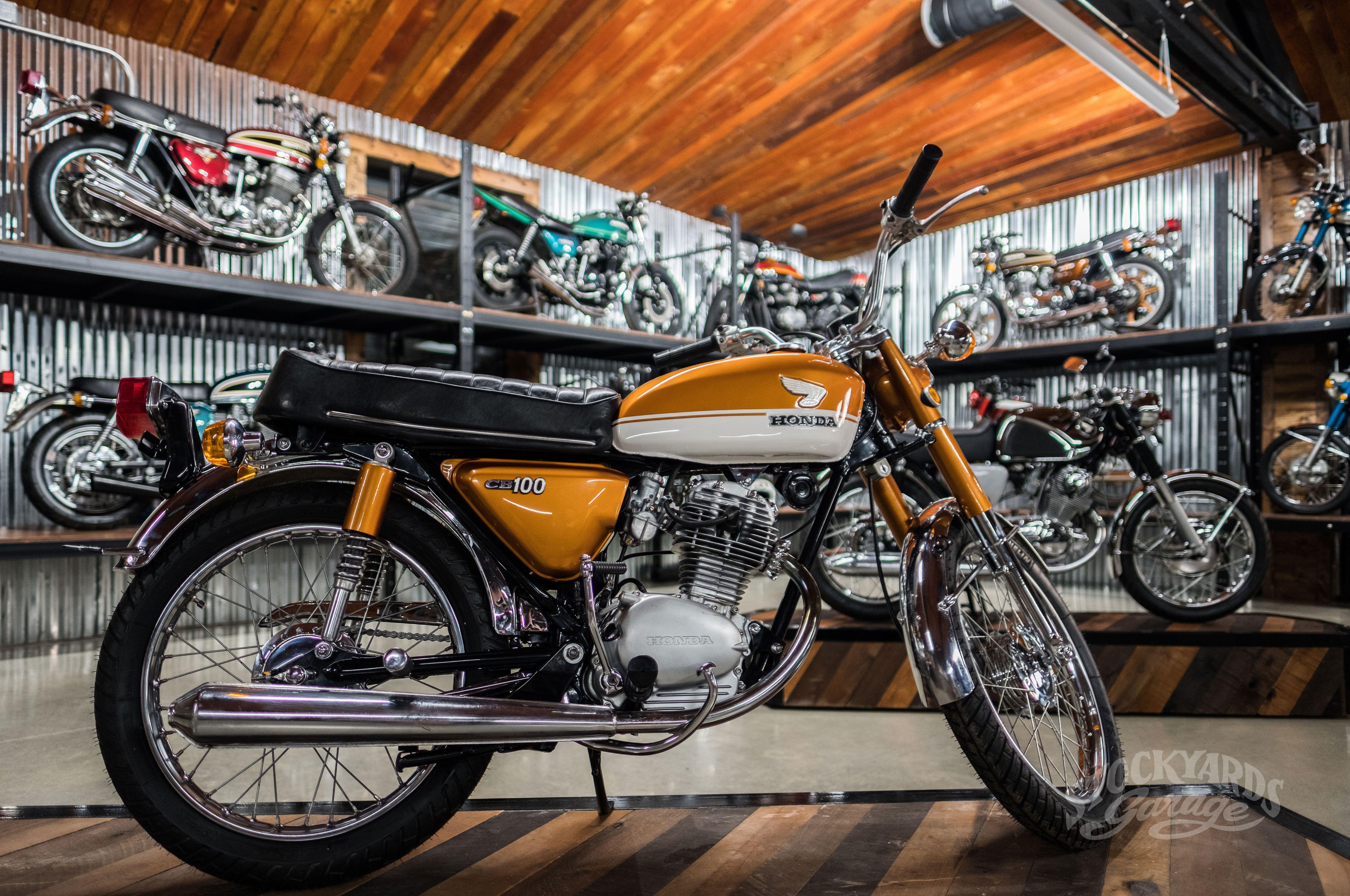 1971 Honda Cb100 At Stockyards Garage Honda Cb100 Cb 100 Classic Cb 100