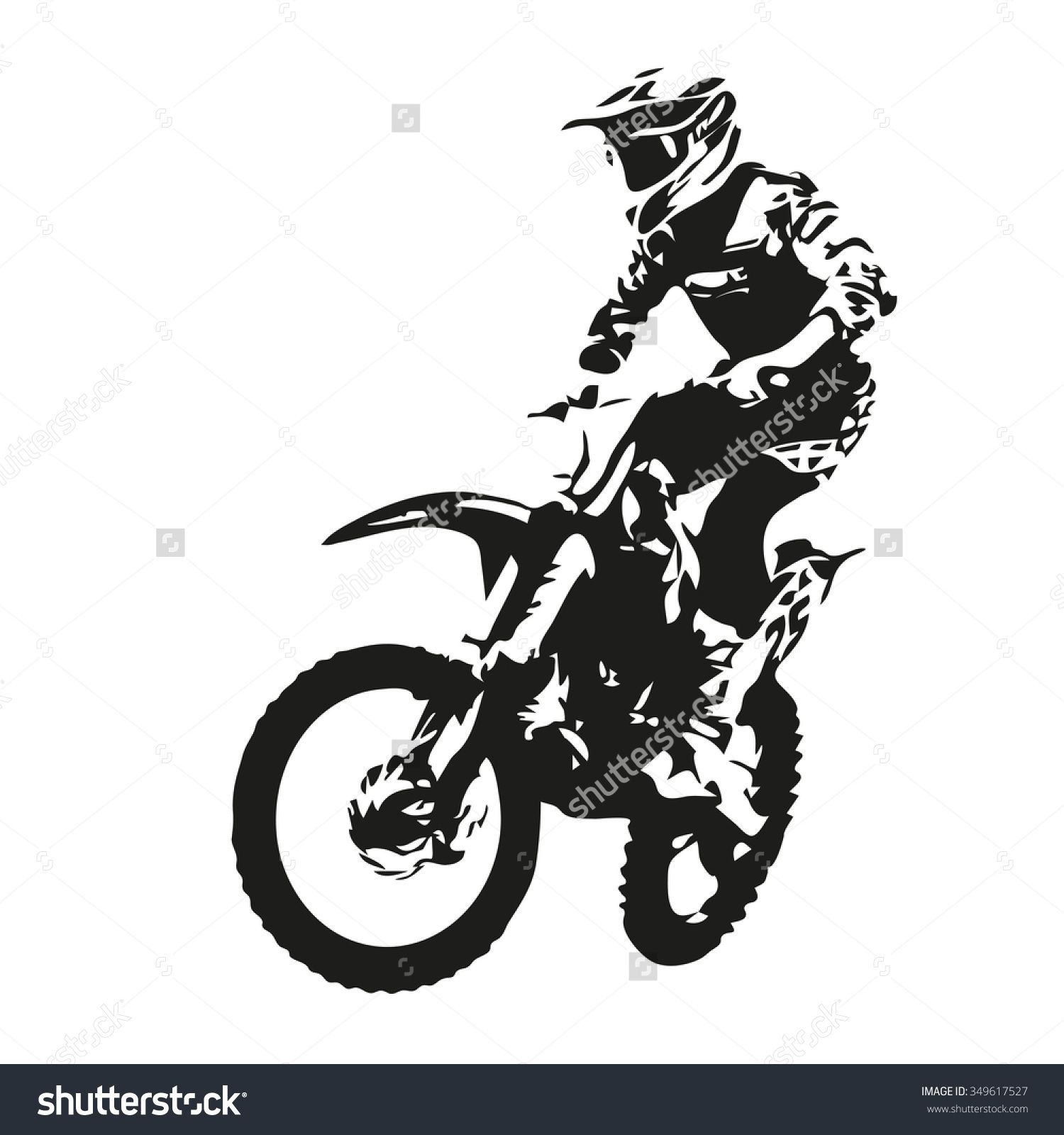 Trial bike silhouette homme moto motorcycle T Shirt