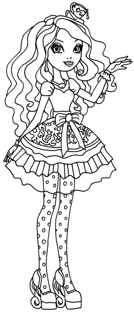 Madeline Hatter Of Ever After High Coloring Sheets Online