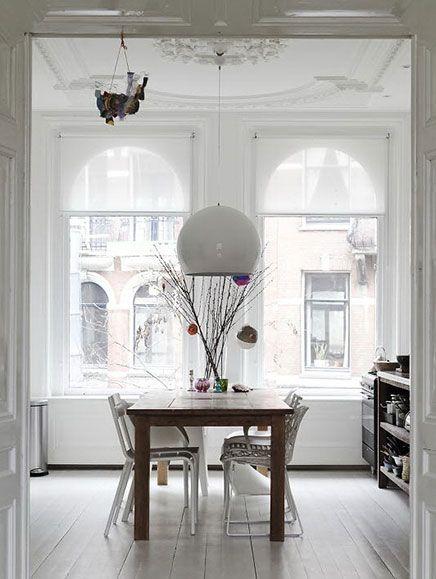 Herenhuis in amsterdam met helder en wit interieur | Interiors ...