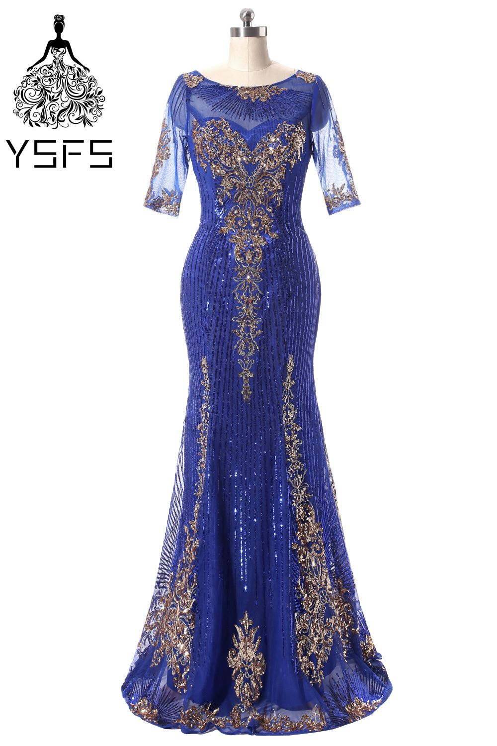Click to buy ucuc real picture royal blue evening dresses