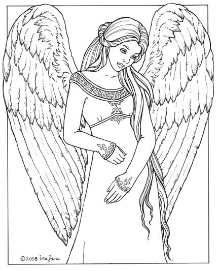 Angel coloring pages for adults best coloring books fantasy