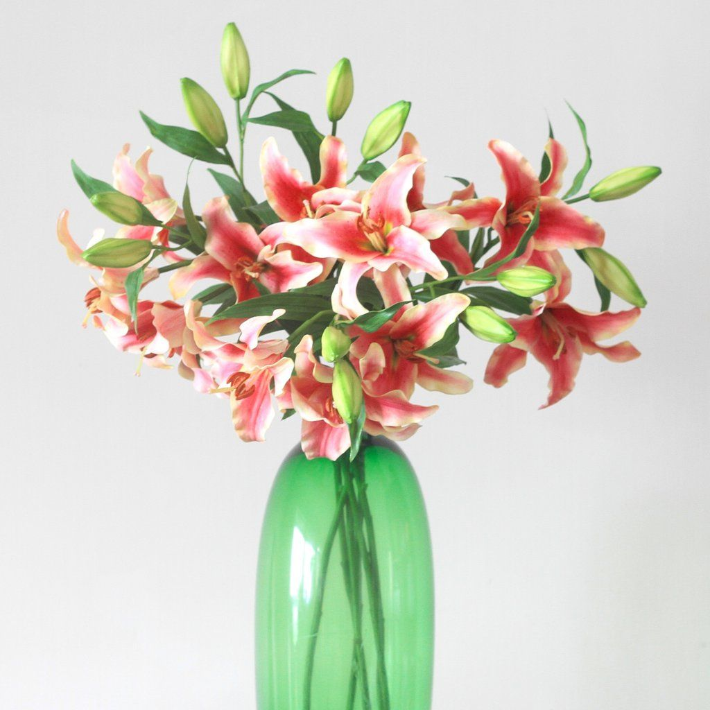 Luxury artificial pink stargazer lilies are the most realistic faux luxury artificial pink stargazer lilies are the most realistic faux flowers perfect for weddings the izmirmasajfo Image collections