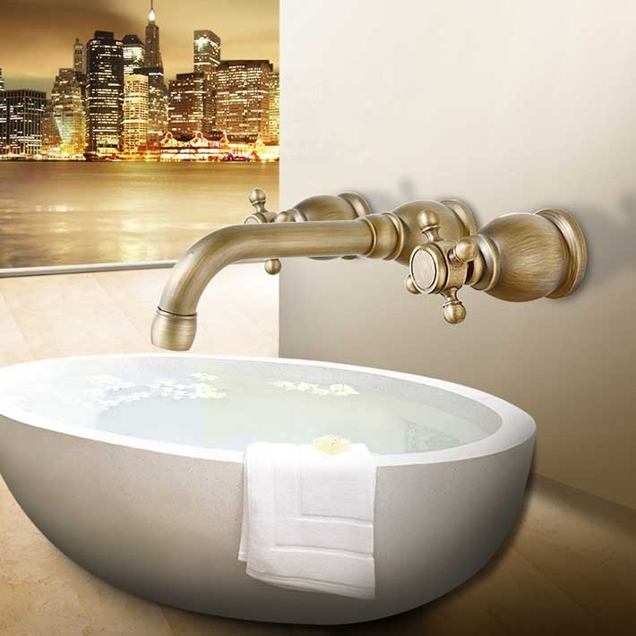 Cheap Faucet Lamp, Buy Quality Basin Countertop Directly From China Basin  Tap Suppliers: Concealed Bathroom Basin Wall  Mounted 3 Holes Dual Handle  Bathtub ...