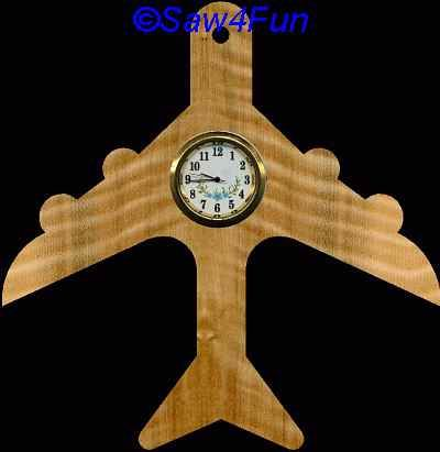 Airplane Clock Scroll Saw Pattern Clock Plans Scroll