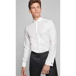 Photo of Evening shirt Pauly – easy iron – in white Joop