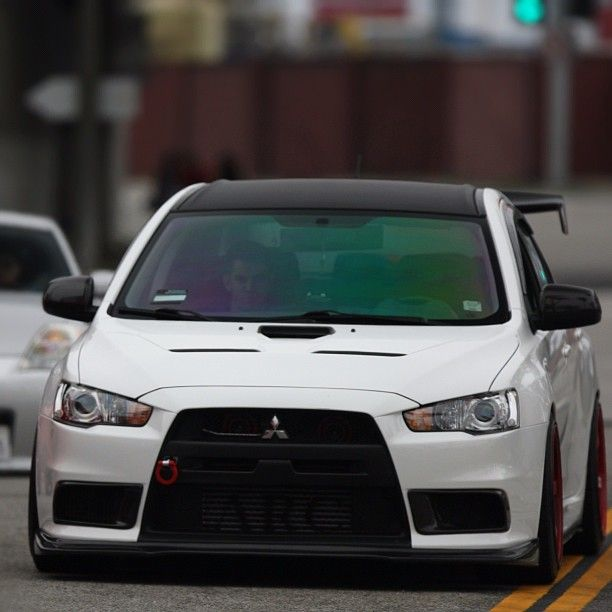 This Mitsubishi Lancer Evolution Looks So Angry They Should Call It A Lancer Emo Mitsubishi Lan Mitsubishi Lancer Evolution Mitsubishi Lancer Mitsubishi