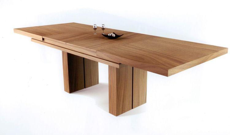 Mesa de comedor dise o nico mesa de comedor de madera for Grande table extensible