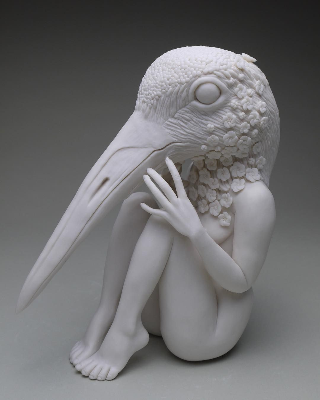 Crystal Morey On Instagram Creation 7 Of 2018 Whooping Crane The Whooping Crane Has One Of My Fav Ceramic Art Sculpture Weird Photography Ceramic Sculpture