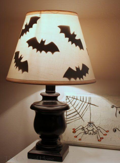 halloween lamp DIY crafts decorations Halloween Pinterest Lamp - how to make simple halloween decorations