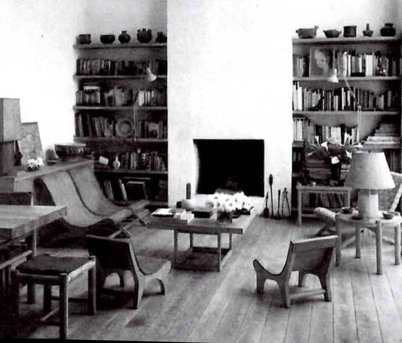 Living Room Of Clara Porset Xavier Guerrero In Chimalistac  # Muebles En Taxco Guerrero