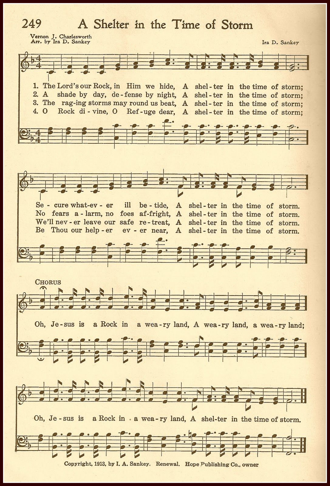 A Shelter From The Storm Hymn Free Printable From Little