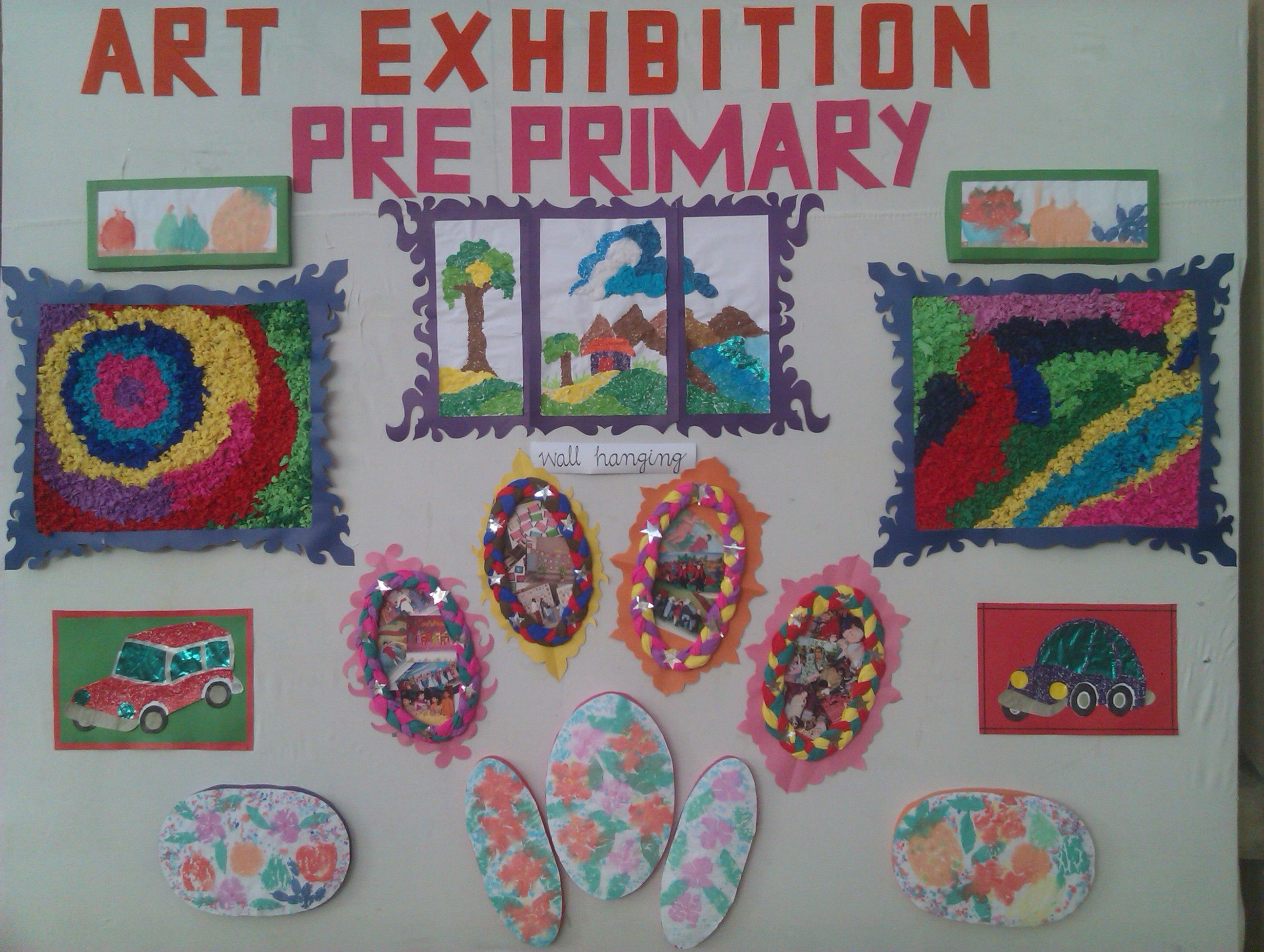 Art Display At Happy Home School  Pre Primary Section , Gulshan Campus,  Karachi Pakistan
