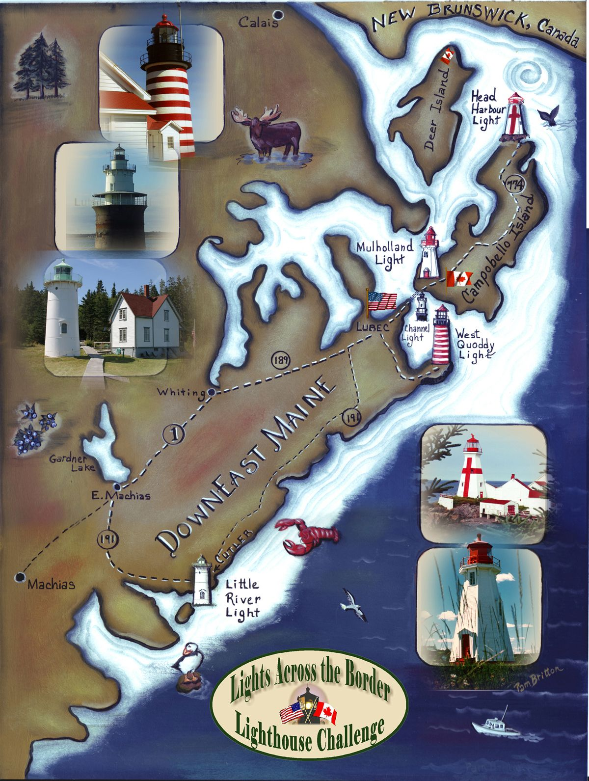 Maine Lighthouse Map Great driving around looking