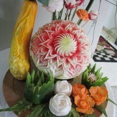 Fruit and Vegetable Carving Portfolio Ideas   Thai Creations