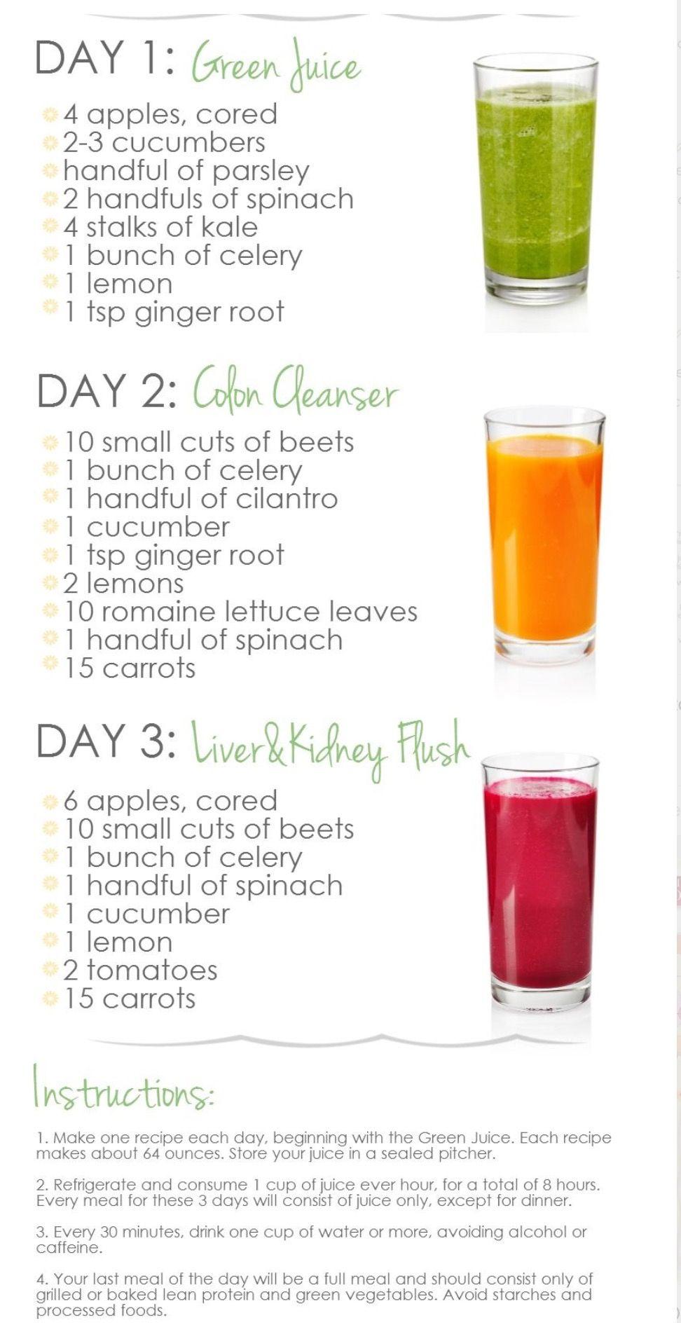 3 day cleanse | Diets 2019 | Healthy drinks, Juice diet