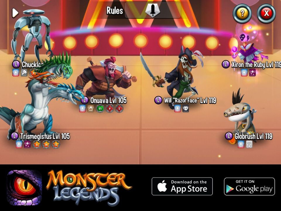 I'm performing a counterattack at Monster Legends! Join