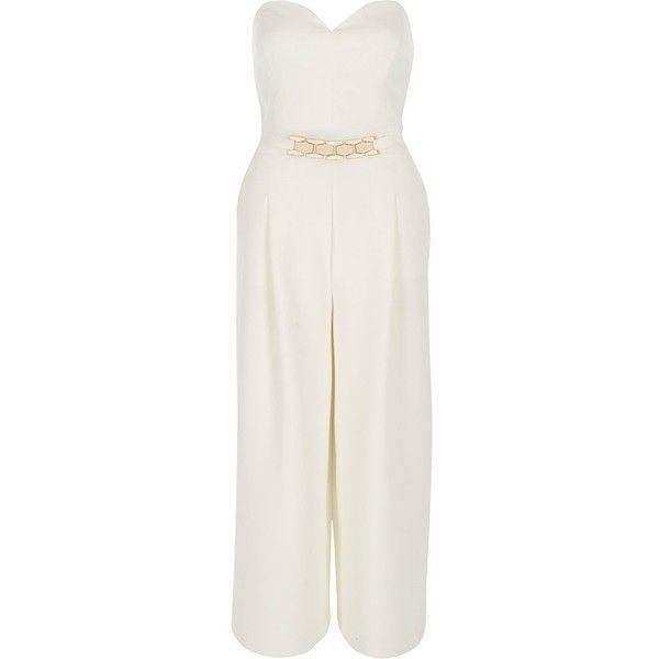Cream jumpsuit