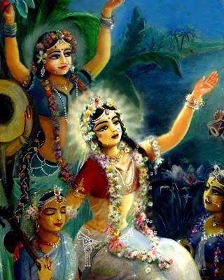 Radha's meditation on Krishna