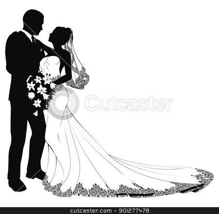 Clipart Of Bride And Groom