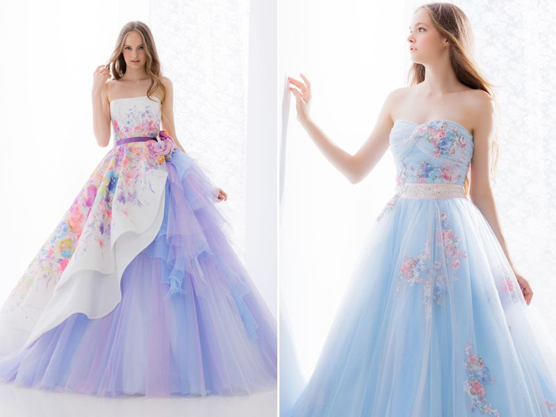 27 Princess Worthy Wedding Dresses Featuring Pastel Color