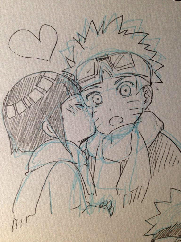 Naruhina Naruto Sketch Naruto Drawings Anime Sketch