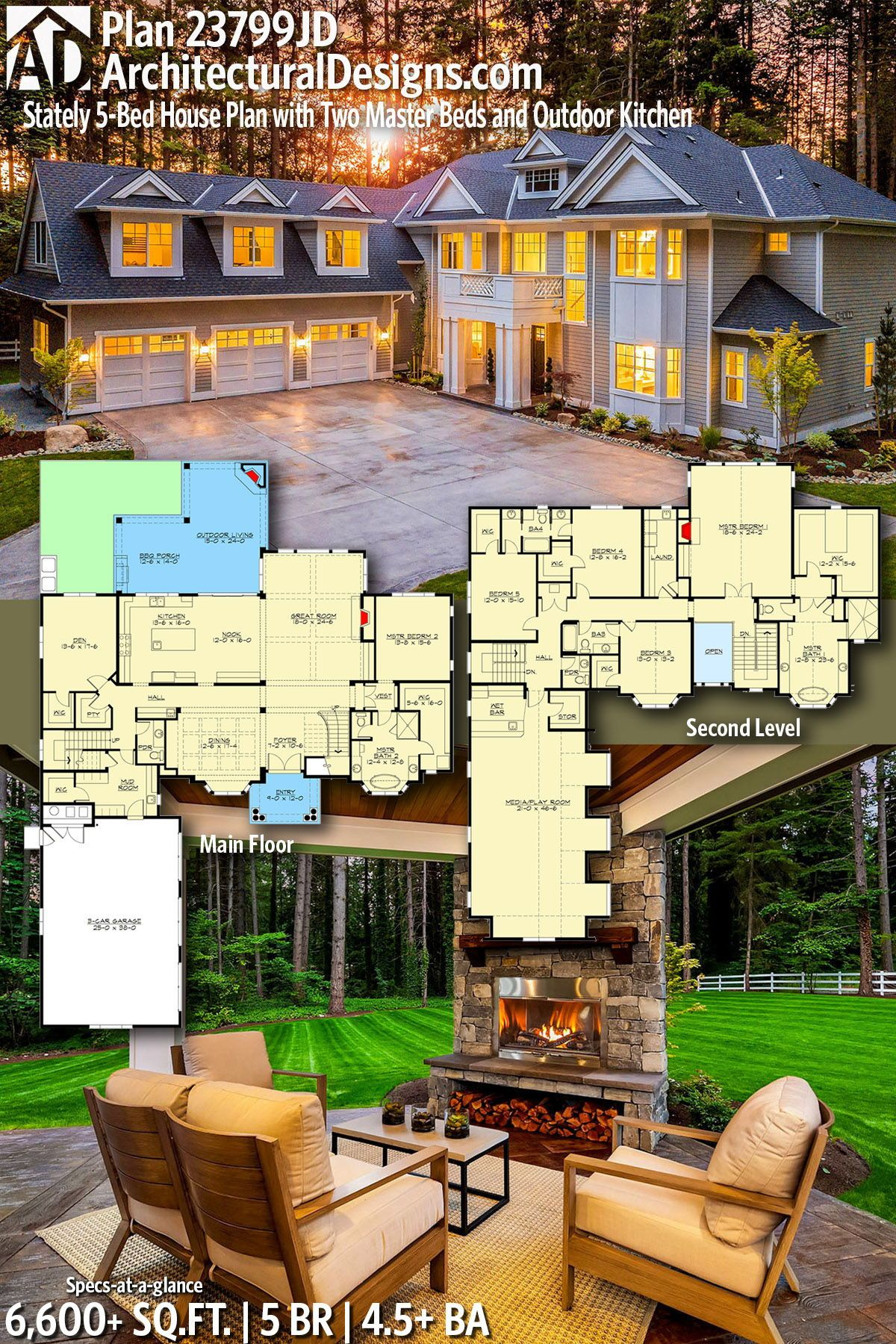 Architectural designs home plan jd gives you bedrooms baths and also rh pinterest