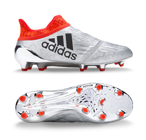 adidas X 16+ Purechaos FG - Silver Metallic/Core Black/Solar Red