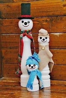 Peppermill Snowmen