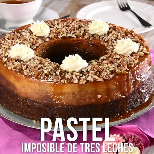 Pastel Imposible de Tres Leches
