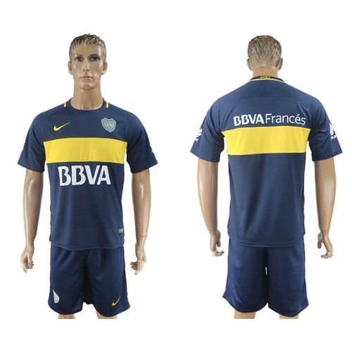 2017-2018 Kit Calcio Boca Juniors Home Blank Blu Maglie