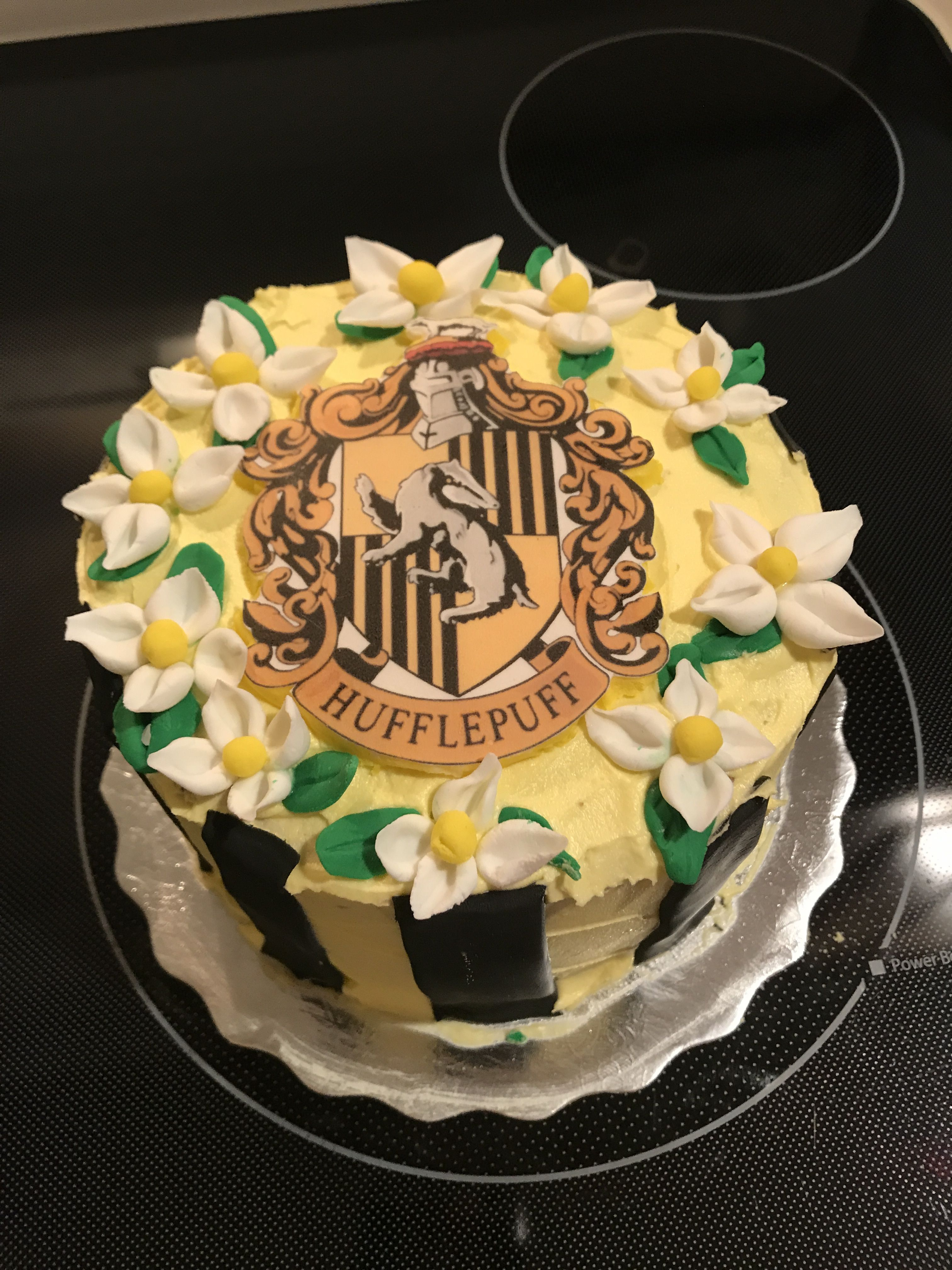 Made My Own Hufflepuff Cake With Images 14th Birthday Cakes