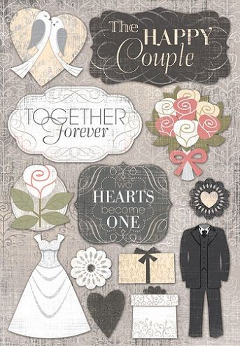 3d paper house stickers engagement stickeres of love and wedding scrapbooking paper