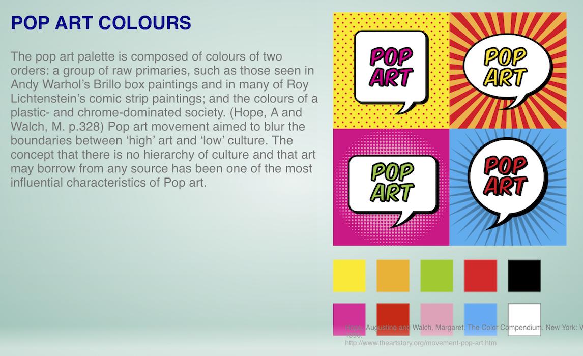 Colour Association Pop Art Color Color Schemes Color Pop Art
